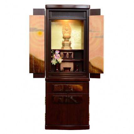 国産仏壇 みかげ塗り茜雲 紫檀系 1300